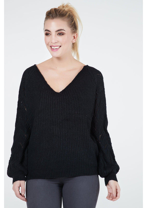 Jumper With Braid Sleeve Detail