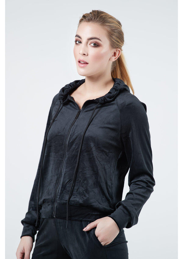 "Black Tracksuit With ""Couture"" Diamante Detail"
