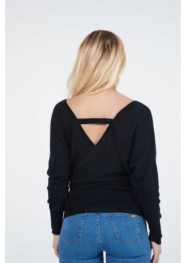 V-Neck Jumper With Belt Detail