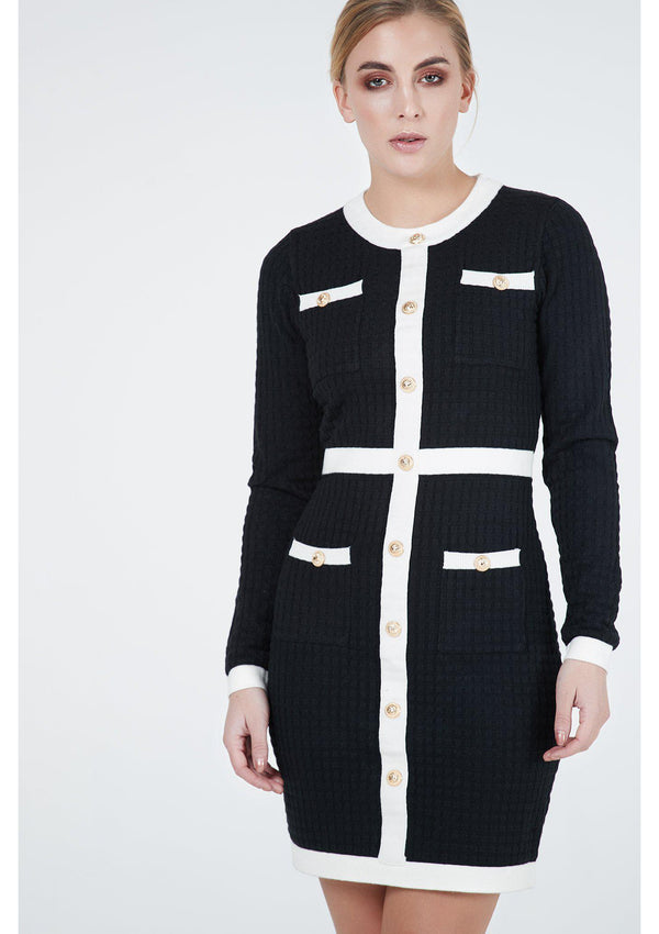 "Two Tone ""Balmain"" Style Dress"