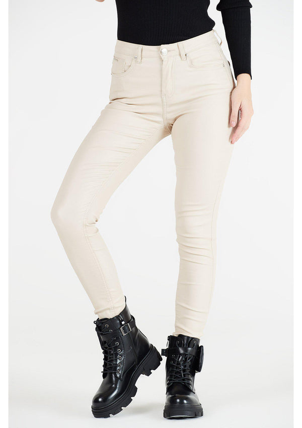 Cream Coated Jeans