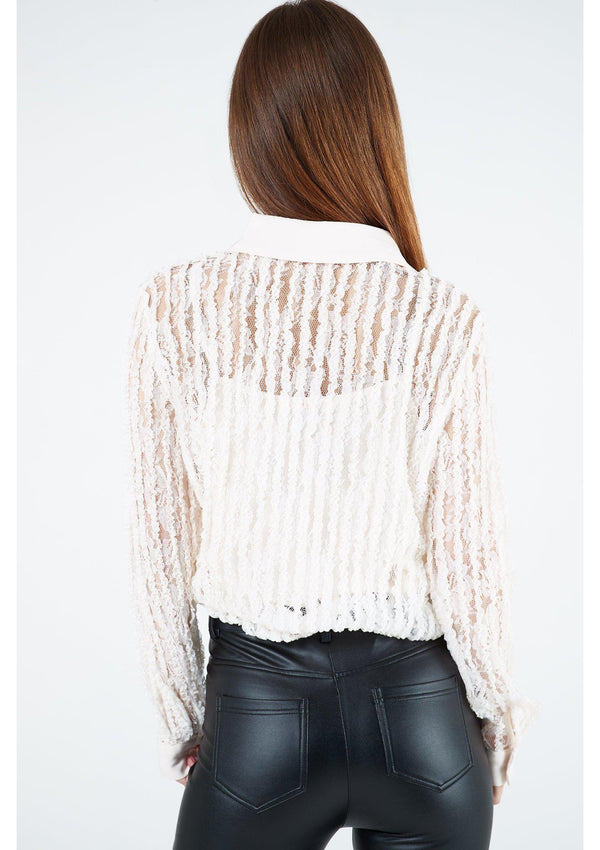 Cream Frill Shirt