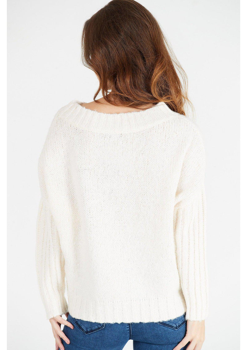 Cream Short Slouchy Jumper