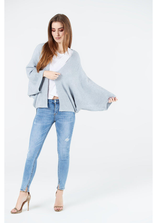 Grey Batwing Cardigan