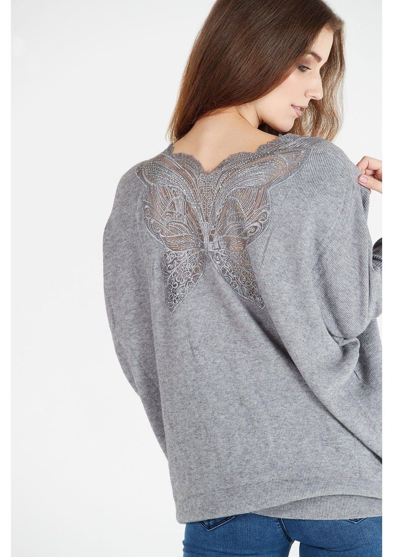 Jumper with Butterfly Diamante Detail
