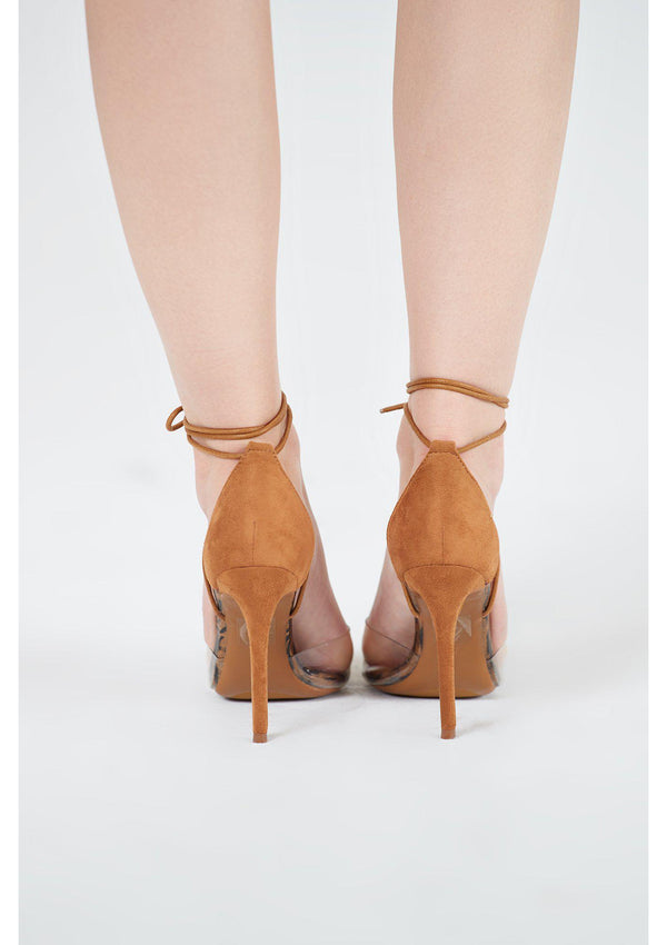 Tan Perspex Stilettos