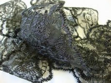 Load image into Gallery viewer, Black Coloured Vintage Scalloped Edge Lace Trimming Edging 45mm Width