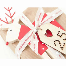 Load image into Gallery viewer, Natural Oatmeal With Love From Santa Christmas 15mm Width Ribbon
