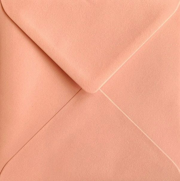 6x6 Candyfloss Pink Coloured Square Envelopes Gummed Diamond Flap 100gsm
