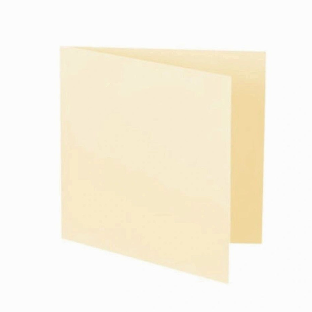 125mm Cream 300gsm Blank Cards and 5x5 Square 100gsm Envelopes