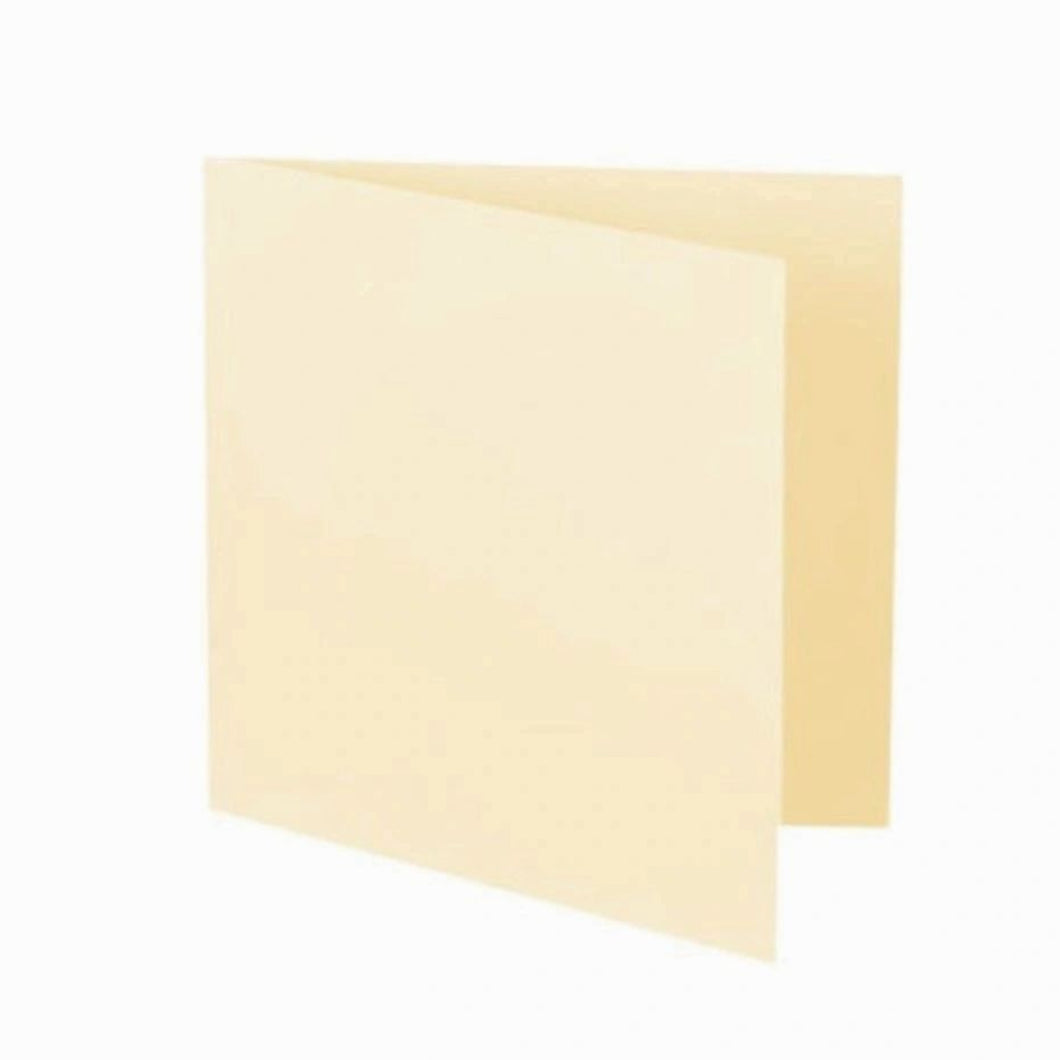 145mm Cream 300gsm Creased Blank Cards and 6x6 Square Envelopes 100gsm