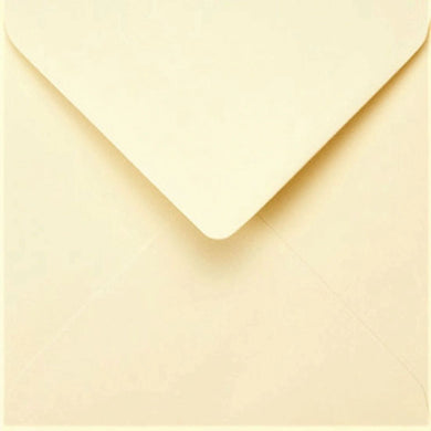 6x6 Cream Square Envelopes Gummed Diamond Flap 100gsm