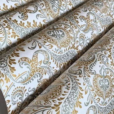White Silver and Gold Luxury Splendour Design Handmade Gift Wrapping Paper 700mm x 500mm Sheets