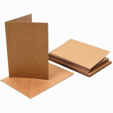 A5 Kraft Cards and C5 Envelopes - Creased Card Blanks 280gsm