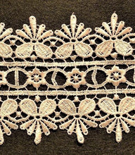 Load image into Gallery viewer, Cream Ivory Lace Trimming Edging 85mm Guipure Vintage Heavyweight
