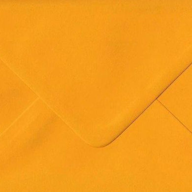 5x7 Mustard Yellow Coloured Envelopes Gummed Diamond Flap 100gsm