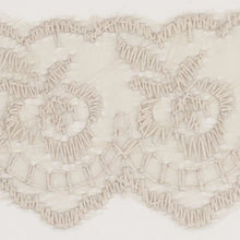 Load image into Gallery viewer, Silver Coloured Vintage Scalloped Edge Lace Trimming Edging 45mm Width