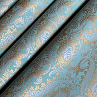 Teal Gold and Silver Luxury Splendour Handmade Gift Wrapping Paper 700mm x 500mm Sheets