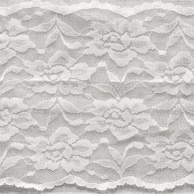 White Vintage Scalloped Edge Stretch Lace Trimming Edging 145mm Width