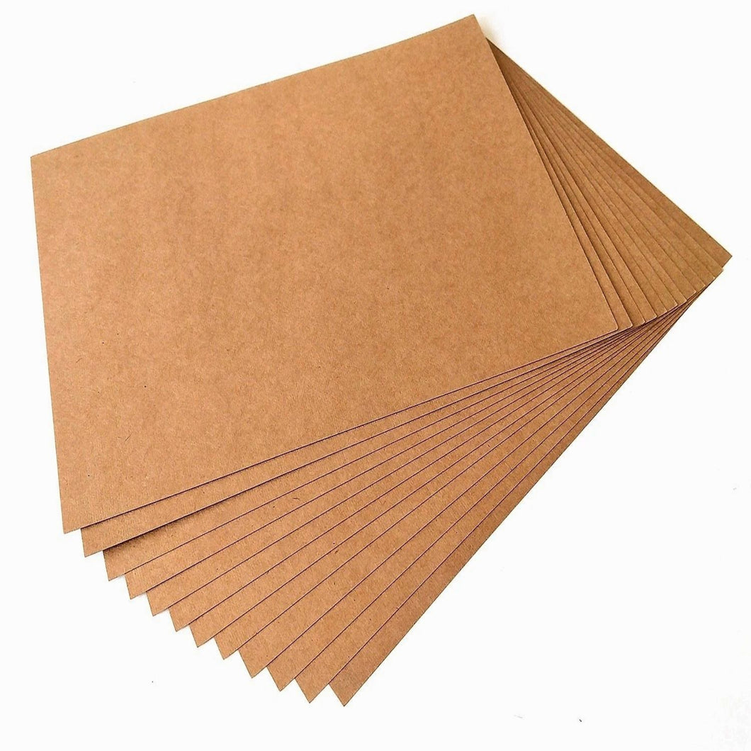 5x5 Kraft Card and Envelopes - Single Sided Postcard Blanks 280gsm