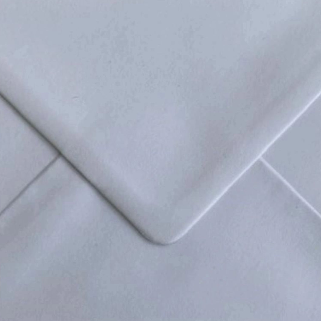 C6 White Recycled Envelopes Gummed Diamond Flap 100gsm