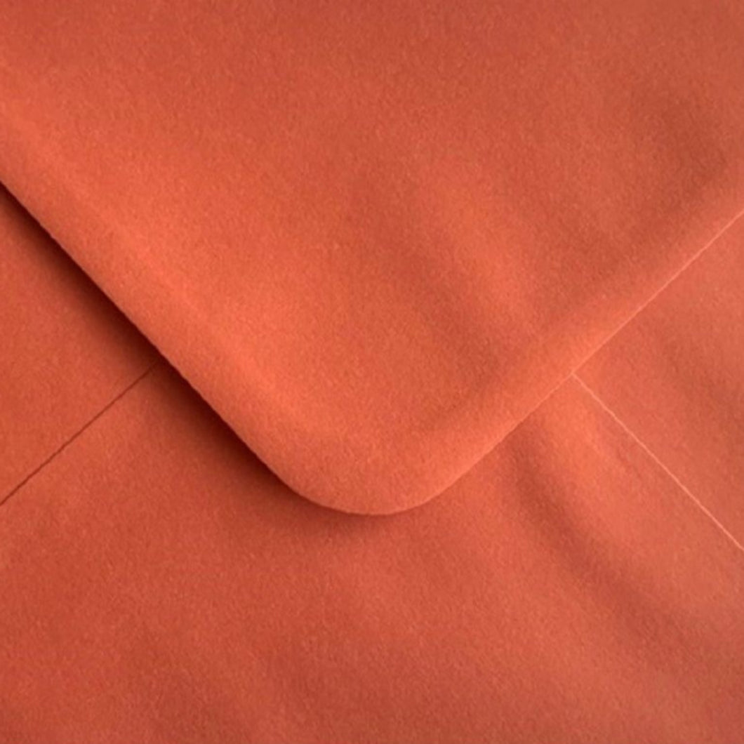 5x7 Burnt Orange Coloured Envelopes Gummed Flap 100gsm