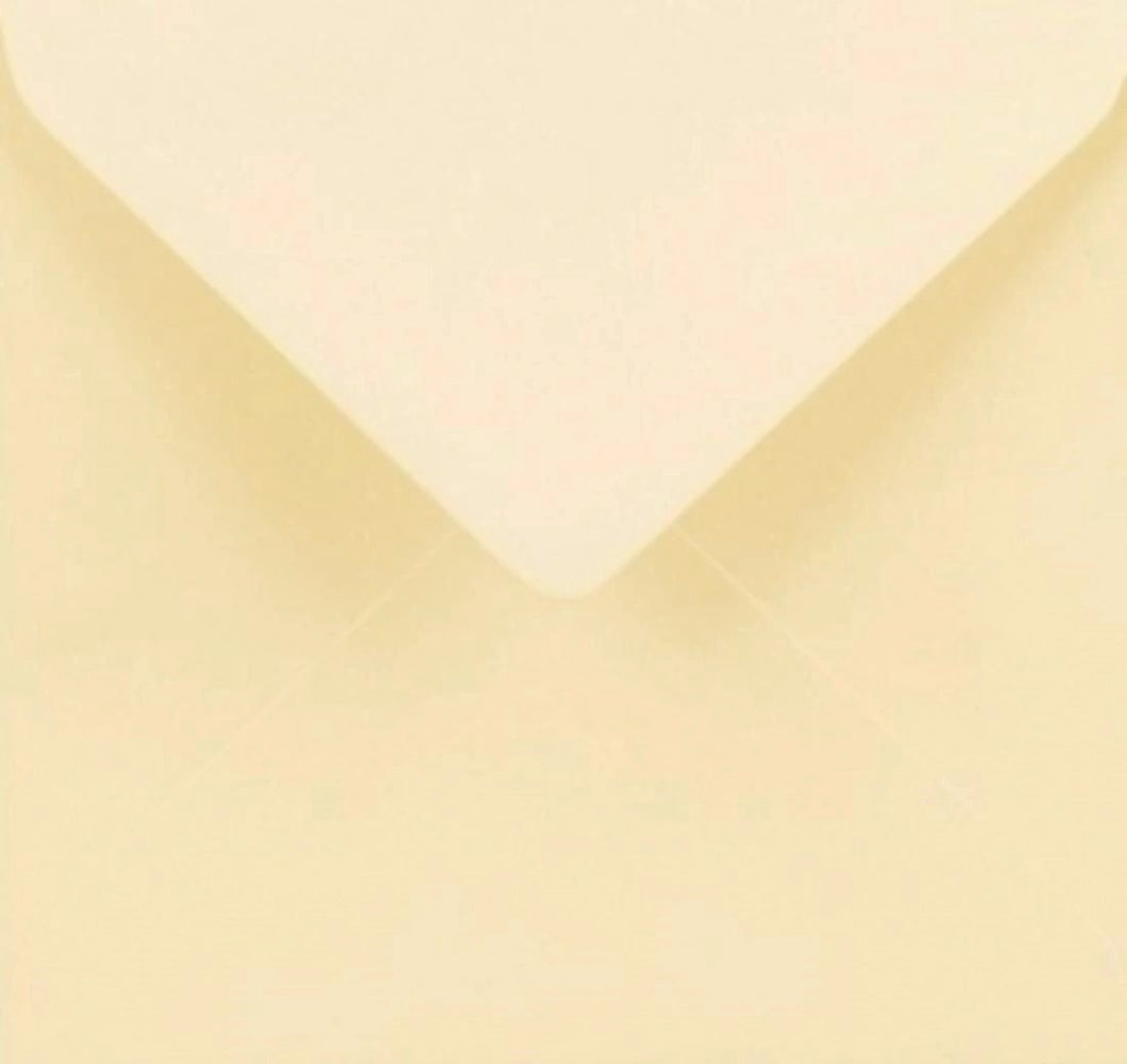 5x5 Ivory Square Envelopes Gummed Diamond Flap Premium 130gsm