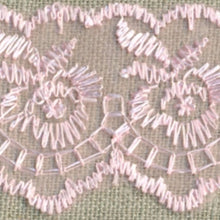 Load image into Gallery viewer, Baby Pink Coloured Vintage Scalloped Edge Lace Trimming Edging 45mm Width