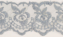 Load image into Gallery viewer, Slate Grey Coloured Vintage Lace Trimming Edging 45mm Width