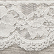Load image into Gallery viewer, White Vintage Scalloped Edge Stretch Lace Trimming Edging 58mm Width