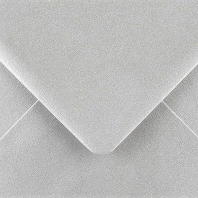 C7 Metallic Silver Envelopes Gummed Diamond Flap 100gsm