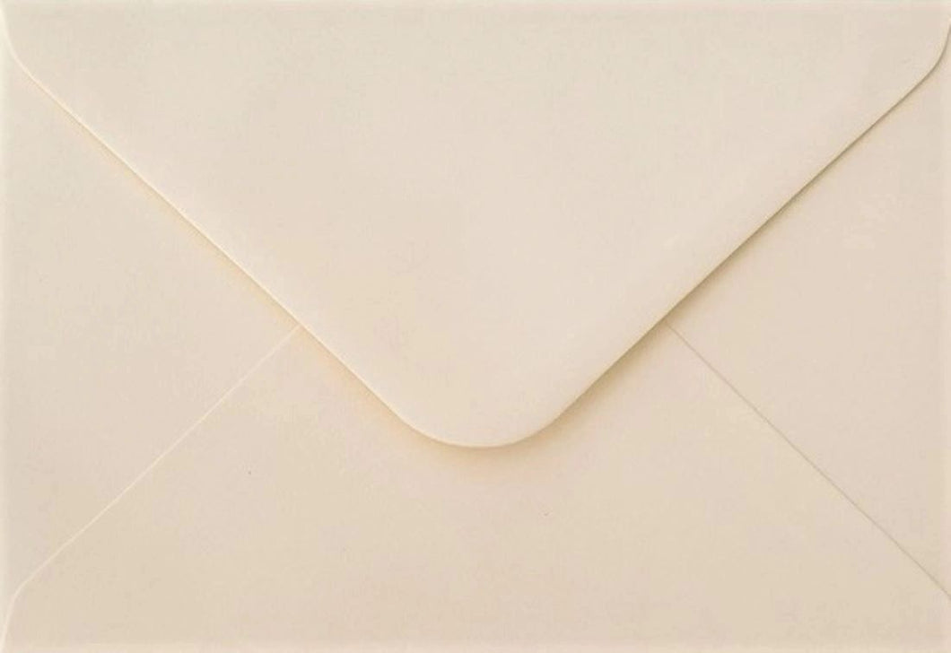 C5 Ivory Envelopes Gummed Flap Luxury Premium 130gsm