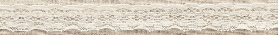 Ivory Vintage Stretch Lace Trimming Edging 20mm Width