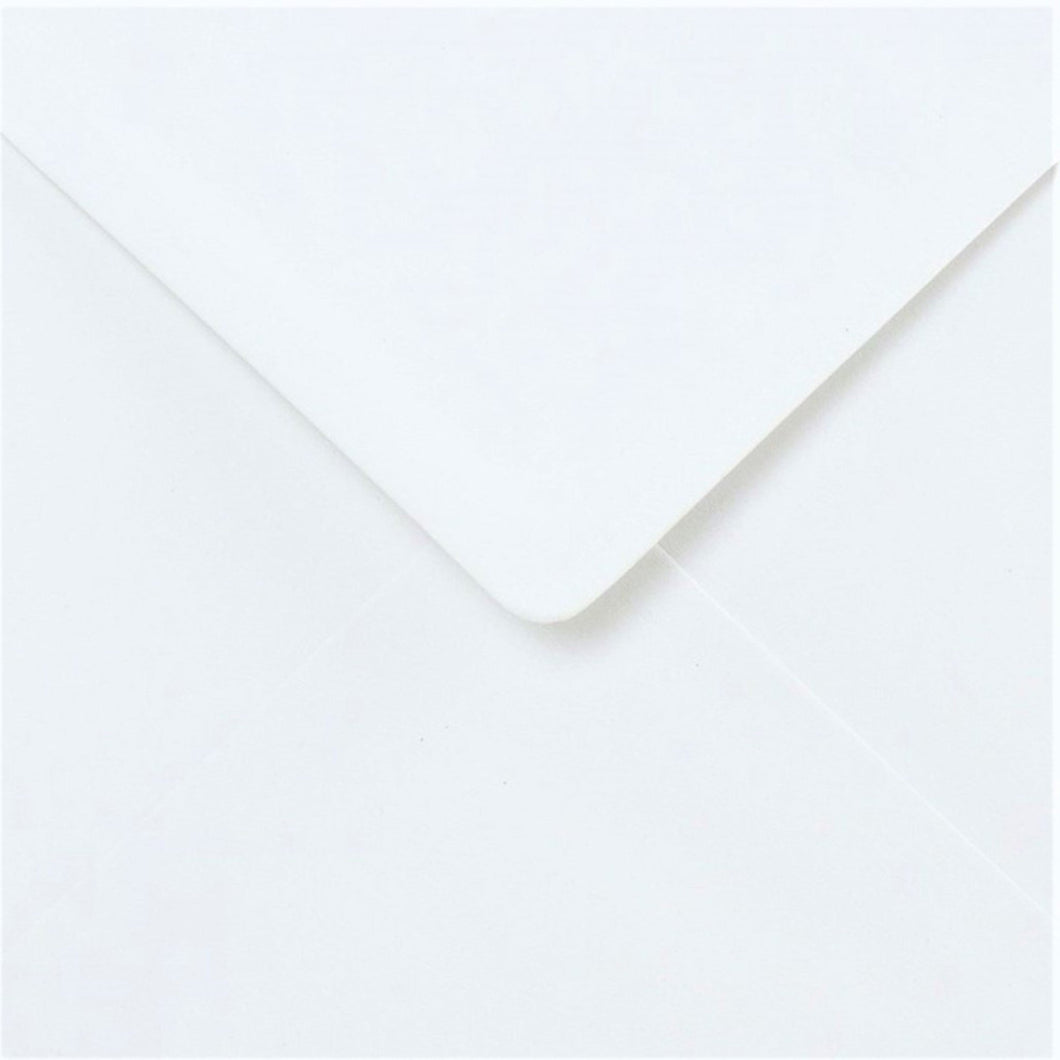 5x5 White Cards and Envelopes - Creased Card Blanks 300gsm