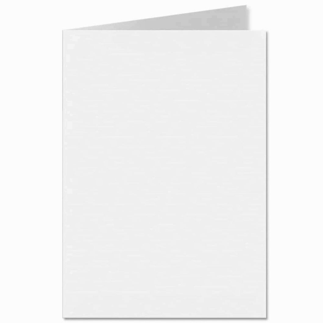 125x175mm White 300gsm Creased Blank Cards and 5x7 Gummed Envelopes 100gsm