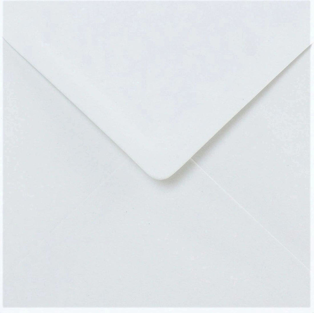 165mm x 165mm Square White Envelopes Gummed Diamond Flap 100gsm