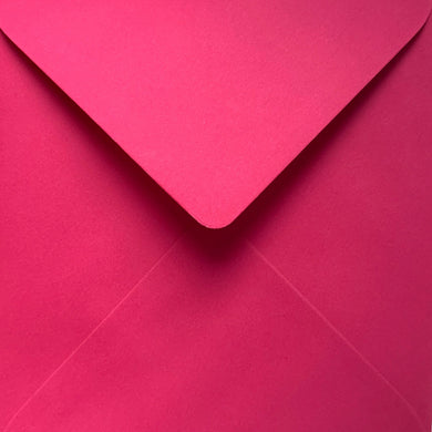 6x6 Fuchsia Pink Coloured Square Envelopes Gummed Diamond Flap 100gsm