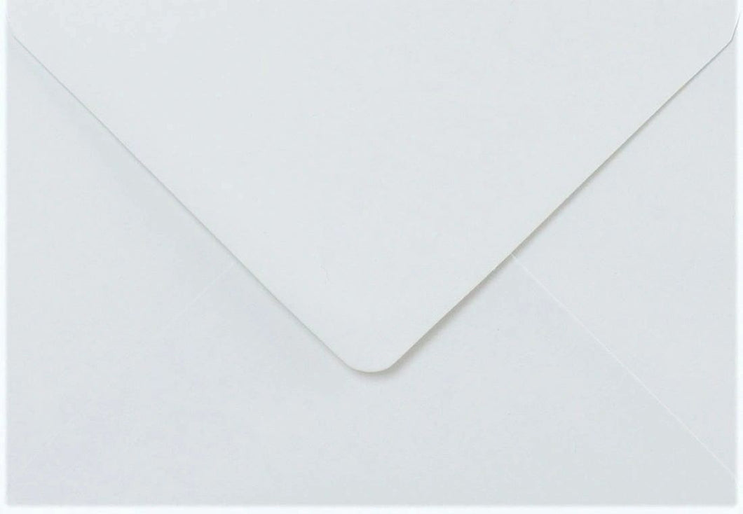 5x7 White Envelopes Gummed Diamond Flap 100gsm