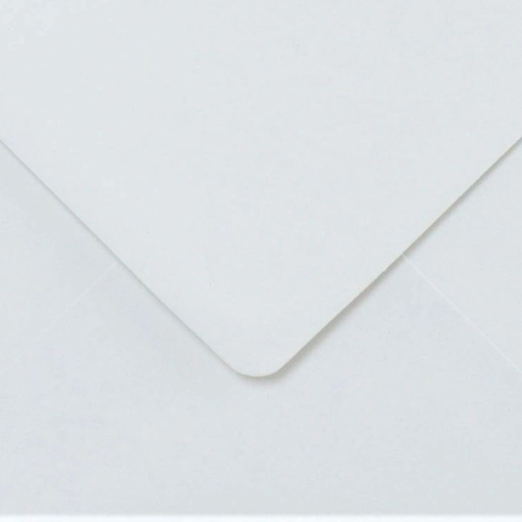 C6 White Envelopes Gummed Diamond Flap Premium 130gsm
