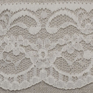 Cream Ivory Vintage Scalloped Edge Lace Trimming Edging 63mm Width