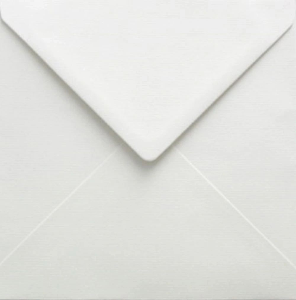 5x5 White Square Envelopes Gummed Diamond Flap 100gsm