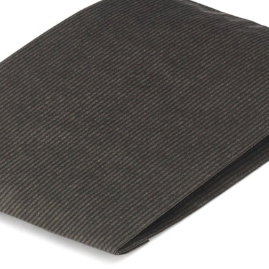 Black Paper Counter Bags 15x4x21cm Heavyweight Ribbed Kraft