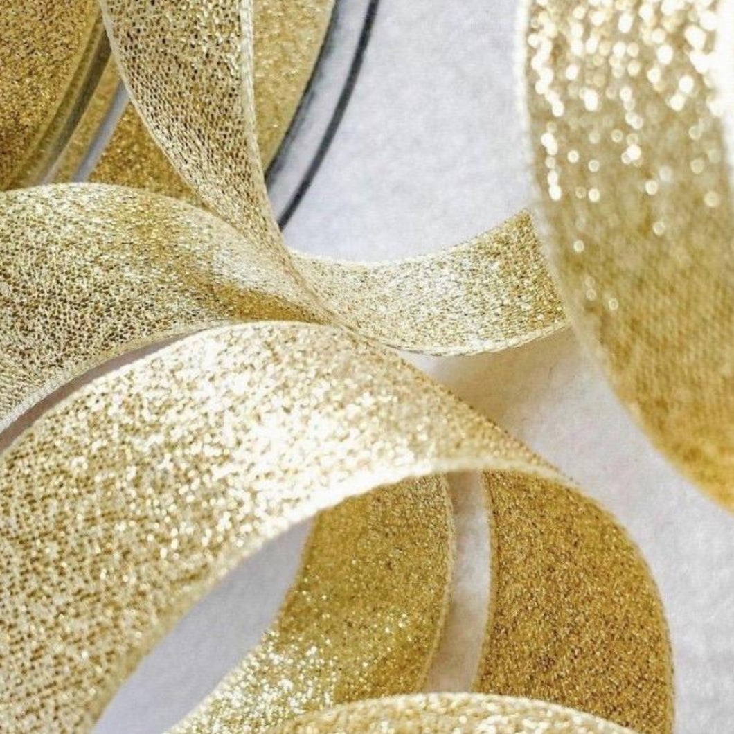 Lamé Luxury Shimmer Gold Ribbon 40mm Width