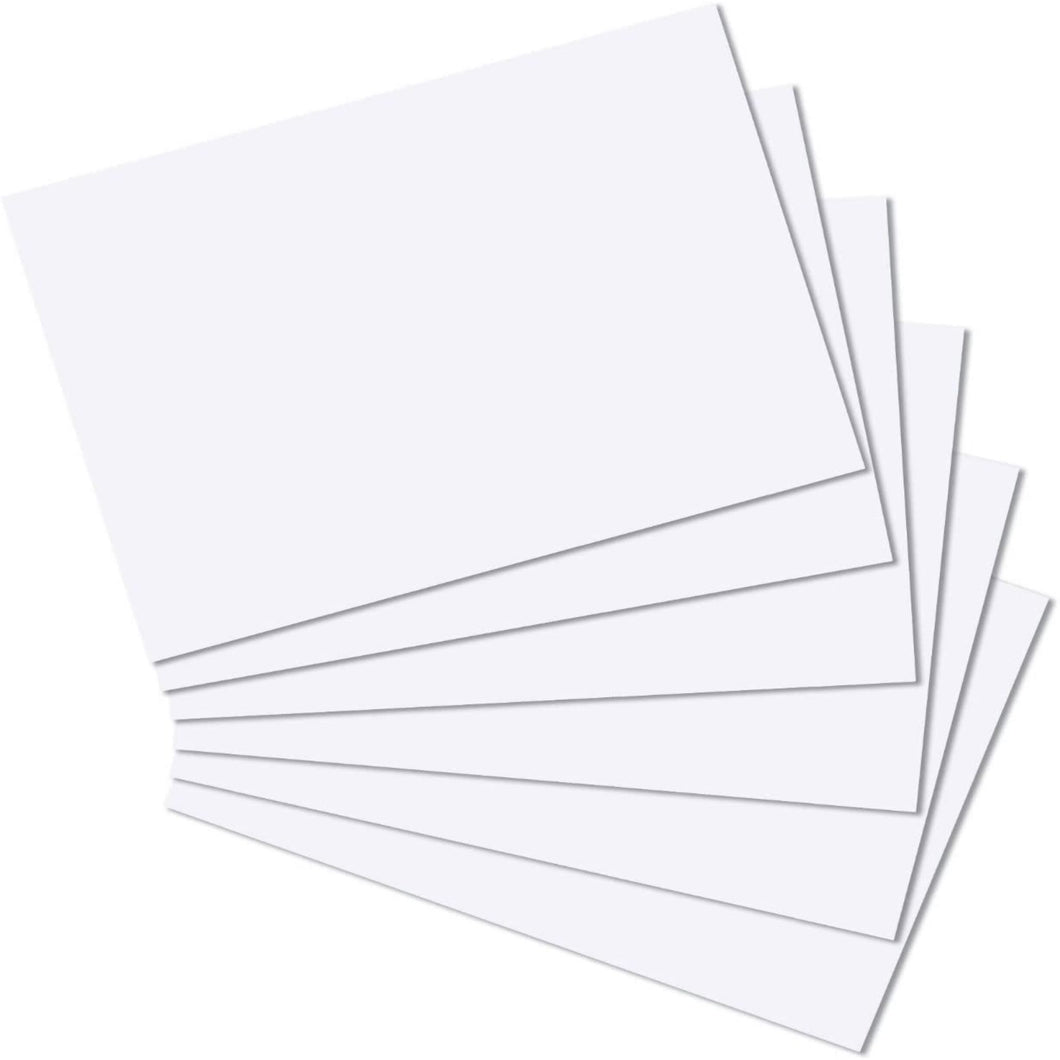 A6 White Card and Envelopes - Single Sided Postcard Blanks 300gsm
