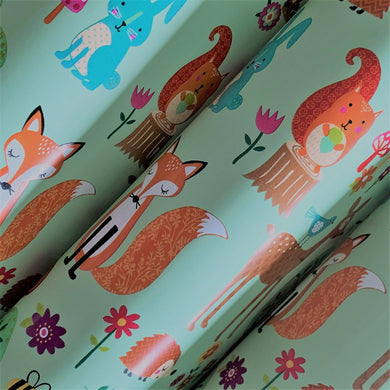 Woodland Animals Inspired Gift Wrapping Paper 700mm x 500mm