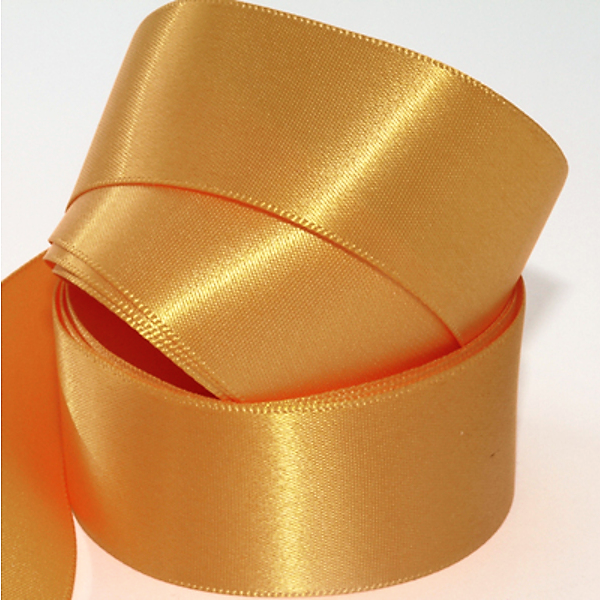 Recycled Sand Dune Gold Ribbon Double Sided Woven Edge Polyester 25mm width