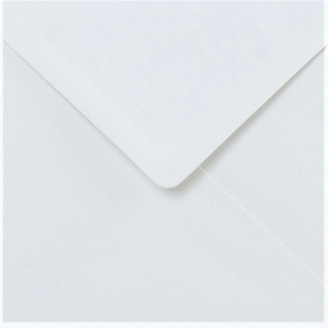 6x6 White Square Envelopes Gummed Diamond Flap 100gsm