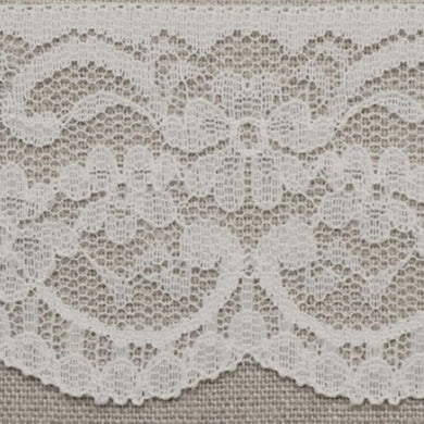 White Vintage Scalloped Edge Lace Trimming Edging 63mm Width