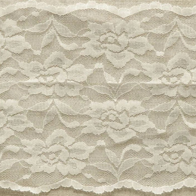 Ivory Vintage Scalloped Edge Stretch Lace Trimming Edging 145mm Width