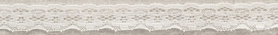 White Vintage Stretch Lace Trimming Edging 20mm Width